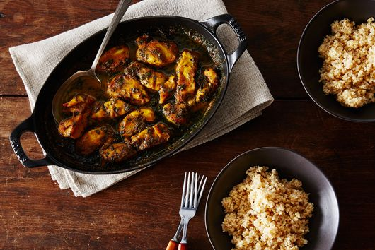 Maple-Curry Chicken with Kale