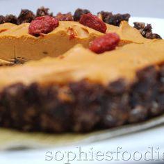 Raw Vegan Gluten-free Goji Berry Brwonie Tartlets