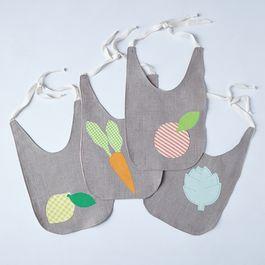 Seasonal Produce Baby Bibs