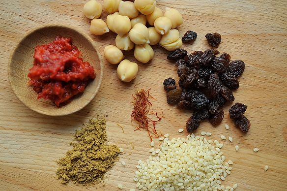couscous and chickpeas