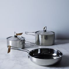 Campfire Stainless 5-Piece Camp Cookware Set