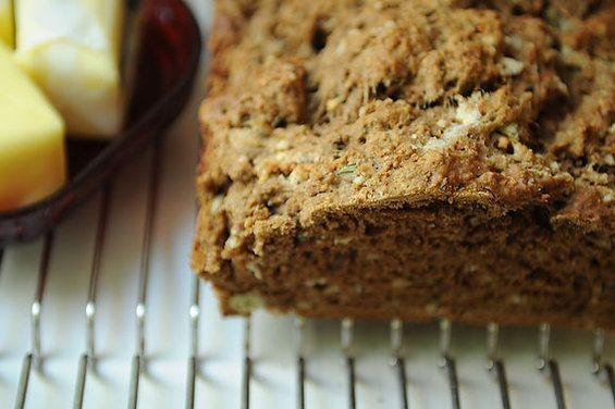 Gariic Parmesan and Herb Beer Bread