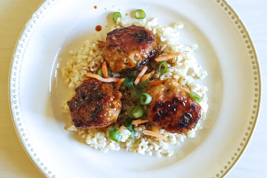 Soy-Glazed Miso Chicken Meatballs