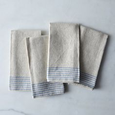 Agrarian Striped Linen Napkins (Set of 4)