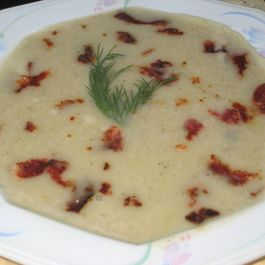 71372f4b dd74 492c bc0c f9e03c80c5dc  potato leek mushroom soup with hickory smoked bacon bits 6 6 2012