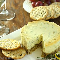 Savory Lemon-Herb Cheesecake