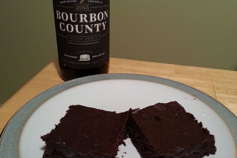 Bourbon Stout Brownies