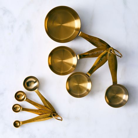 Heavyweight Gold Measuring Cups & Spoons Set