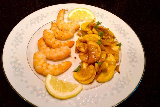 Lemon Yellow Squash with Shrimp