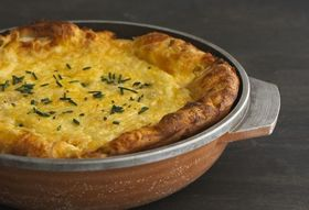 Dinner Tonight: Pear & Gouda Dutch Baby + Escarole Salad