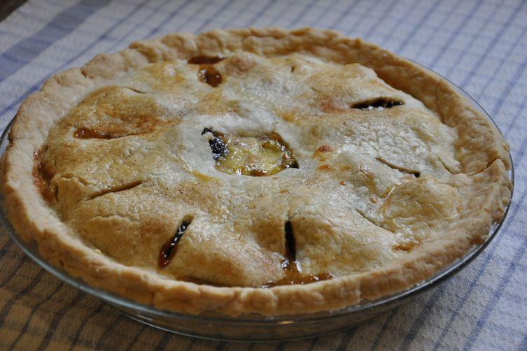 Smoky Tea Prune and Grappa Custard Pie