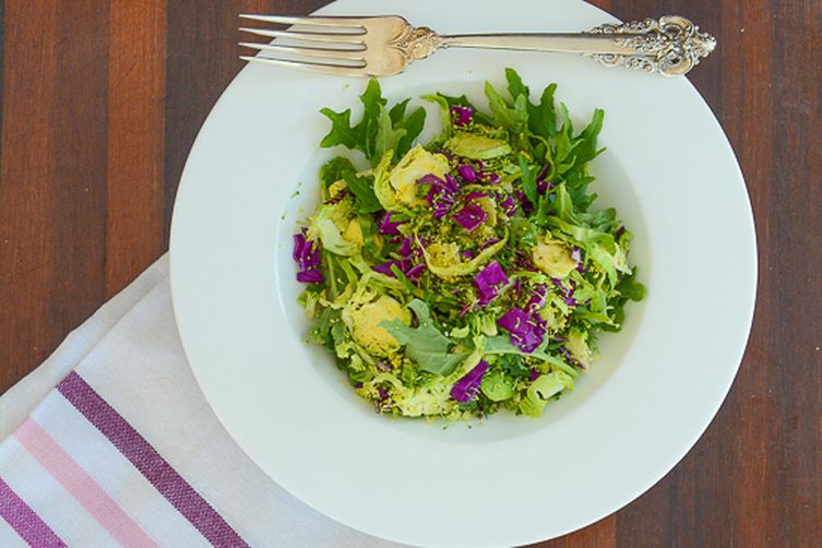 Kale Brussels Sprout Broccoli Salad