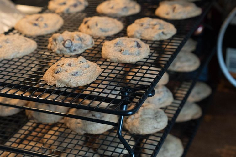 Chocolate-chip coconut cookies with whole-grain spelt flour