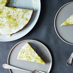 Pistachio Cake with Lemon, Cardamom, and Rose Water