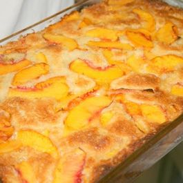 Peach Cobbler with a Wonderful Batter Topping