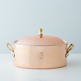 Vintage Copper English Baking Oven Dish