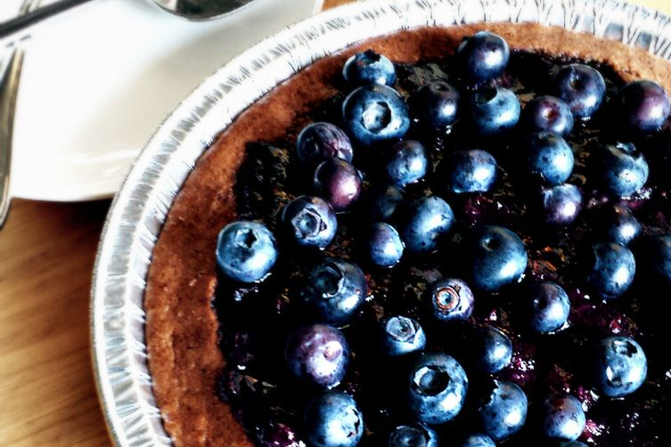Vegan Blueberry 'Pit' Pie