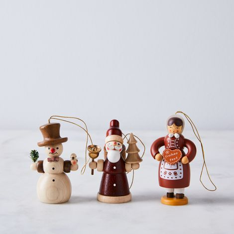 Handcrafted German Holiday Wooden Ornaments