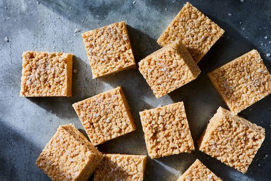 Brown Butter–Bourbon Rice Krispies Treats