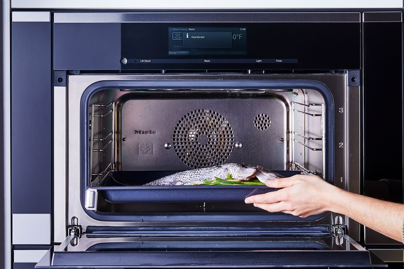 Steaming a whole fish (any size!) is a cinch in a Miele combi-steam oven. Thanks to its MasterChef pre-programmed settings, you can let the machine do all the hard work.
