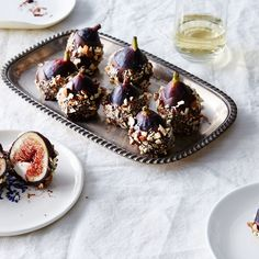 Cheese-Stuffed Figs Dipped in Chocolate