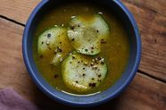 Curried Red Lentil Zucchini Soup