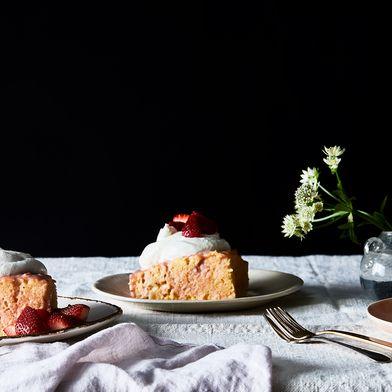 Strawberry-Rhubarb Tres Leches Cake