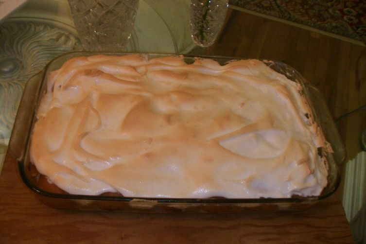 Apricots with Hidden Raspberries Meringue Pie