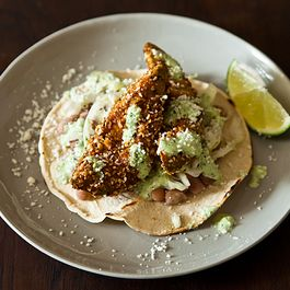 Fried Avocado Tacos with Sesame and Lime