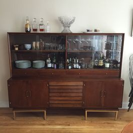 Real Solutions: the Repurposed Credenza Bar
