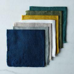 Linen Buttonhole Napkins (Set of 4)