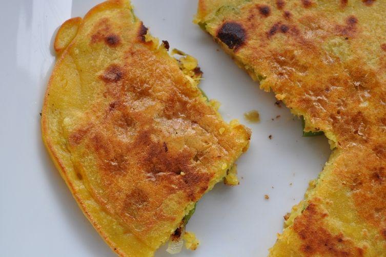Besan Puda - Savory Chickpea Flour Crepes