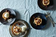 Shortbread Tarts with Spiced Apples and Candied Pecans