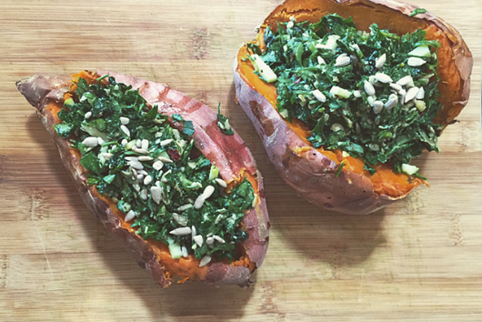 Parsley Slaw Stuffed Sweet Potatoes