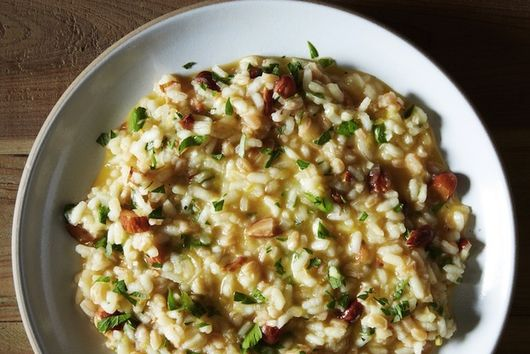 Lemon and Toasted Almond Risotto