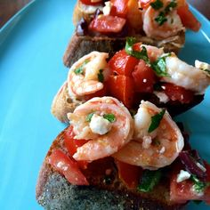 Shrimp and Feta Bruschetta