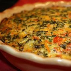 Summer Kale Crustless Quiche