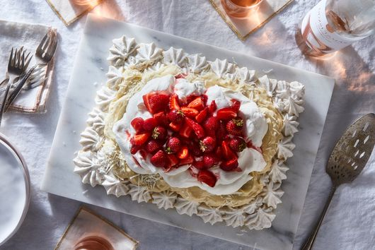 Pavlova With Coconut Custard & Cardamom