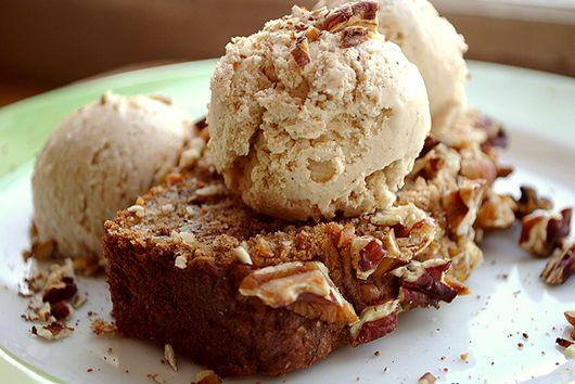 Vanilla Chai Ice Cream with Banana Pecan Bread