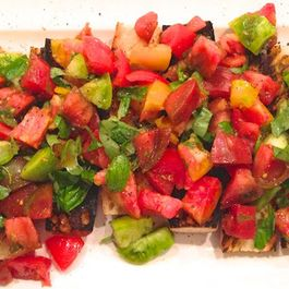 Heirloom Tomato Bruschetta with Basil