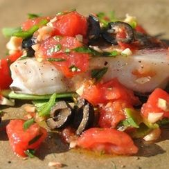 Fish Baked In Parchment Paper