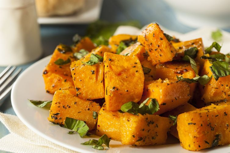 Paleo-Friendly Roasted Butternut Squash with Crispy Sage Leaves