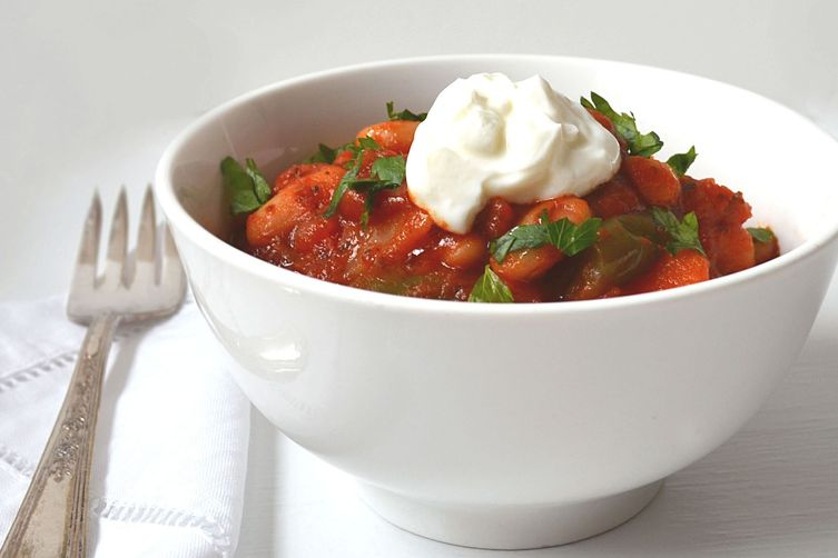 Lebanese Vegetarian Stew ~ Warm Spices, Chickpeas & Potatoes
