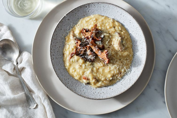 Butternut Squash Risotto With Mushrooms
