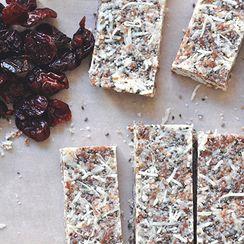 No Bake Coconut Cherry Chia Bars