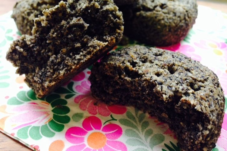 Buckwheat and Black Sesame Scone