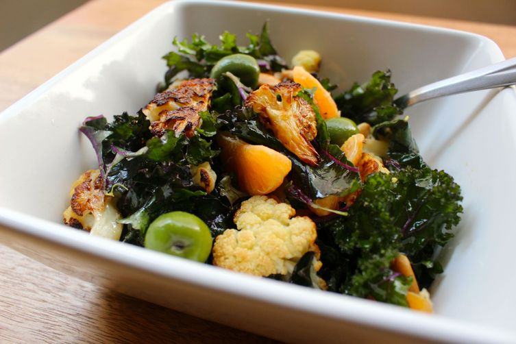 Roasted Cauliflower and Kale Salad