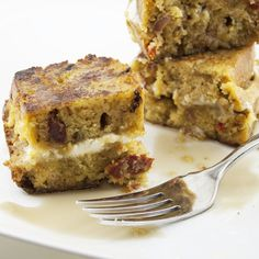 Mascarpone Stuffed Cornbread French Toast