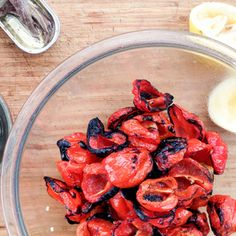 Charred Peppers & Lemon Anchovy Vinaigrette