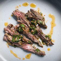 Harissa Chimichurri Skirt Steak